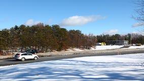 4K UltraHD A timelapse view of the Masspike, Massachusetts Turnpike stock footage