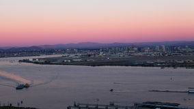 4K UltraHD A timelapse view of the San Diego skyline as day turns to night stock video