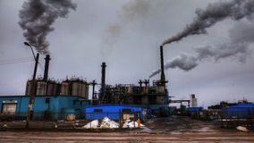 4K UltraHD A timelapse view of smoky pollutants poring from a factory stock footage