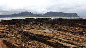 4K UltraHD Timelapse view of Warbeth Beach in Orkney stock video footage