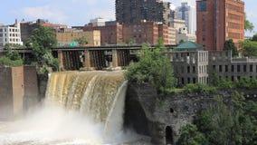 4K UltraHD timelapse wysokość spada przy miastem Rochester, Nowy Jork zbiory