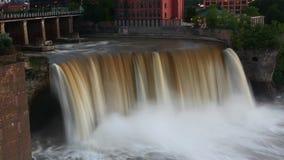 4K UltraHD Timelapse wysokość Spada w Rochester, Nowy Jork przy półmrokiem zbiory wideo