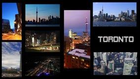 4K UltraHD Toronto, collage video con un fondo negro metrajes