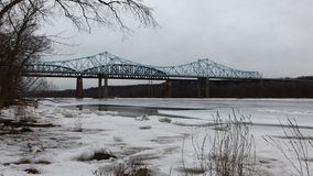 4K UltraHD Traffic on bridges over the Hudson River stock video footage