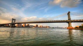 4K UltraHD Traffic on Manhattan Bridge over the East River stock video