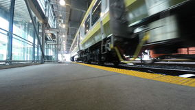 4K UltraHD Train tracks at Union Station in Toronto stock footage