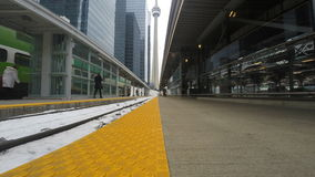 4K UltraHD Train tracks at Union Station in Toronto, Canada stock video footage