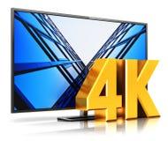 4K UltraHD TV Fotografía de archivo libre de regalías
