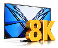 8K UltraHD TV Stock Image
