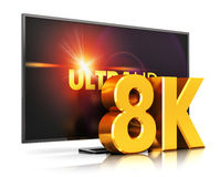8K UltraHD TV technology Stock Photography