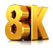 8K UltraHD TV technology logo Stock Photo