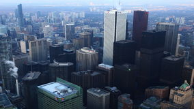 4K UltraHD uma ideia aérea de Timelapse do centro da cidade de Toronto video estoque