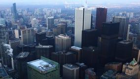 4K UltraHD una opinión aérea de Timelapse del centro de la ciudad de Toronto almacen de video