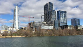 4K UltraHD View of the Austin skyline on a sunny day stock video footage