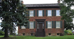 4K UltraHD View  in Brampton, Canada of historic Bovaird House stock footage
