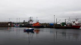 4K UltraHD View of Stromness harbor in Orkney, Scotland stock video