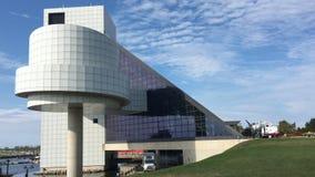 4K UltraHD widok rock and roll hall of fame muzeum i, Cleveland zdjęcie wideo