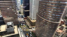 4K UltraHD widok z lotu ptaka ruch drogowy w Miasto Nowy Jork zbiory