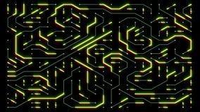 4k una placa de circuito futurista con los electrones móviles, conexiones electrónicas, comunicación, tecnología futurista libre illustration