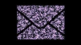 4k una placa de circuito futurista con los electrones móviles formados envían por correo electrónico símbolo libre illustration