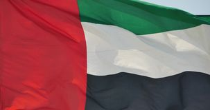 4k United Arab Emirates flag is fluttering in wind. Gh2_11135_4k stock video