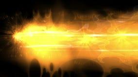 4k upału ogienia płomienia miotaczy cholernik, lutuje spawka energetycznego silnika, kometa meteor royalty ilustracja