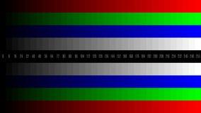 8K 7680x4320-van de de gradiënttelevisie van TV RGB de testpatroon om het scherm, tint 0-255 aan te passen royalty-vrije illustratie