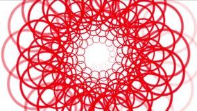 4k van de de ringsdraad van de rotatiecirkel de wervelingsketen tunnel, het patroonachtergrond van de bloemrol royalty-vrije illustratie
