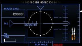 4k van het signaaltechnologie van radargps het schermvertoning, de navigatie van de de gegevenscomputer van wetenschaps sc.i-FI stock video