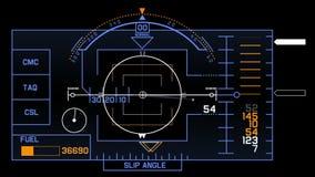 4k van het signaaltechnologie van radargps het schermvertoning, de navigatie van de de gegevenscomputer van wetenschaps sc.i-FI stock illustratie
