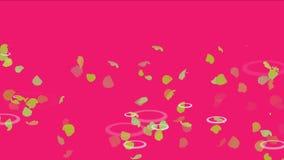 4k verlässt im Kräuselungswasser, romantischer Ginkgopartikelhintergrund, Blumenblumenblätter vektor abbildung