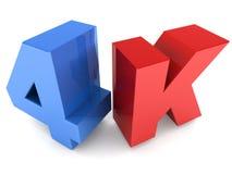 4k vertoningstechnologie Stock Afbeelding