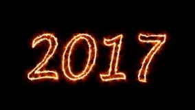 4K VID - ano novo feliz 2017 - fogo
