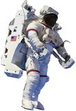 Astronaut, Outer Space Walk, Isolated. 4k video of an astronaut spacewalking in outer space. The space walk is a technology achievement in the exploration of the royalty free stock image
