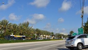 4k video collins Avenue stock video footage