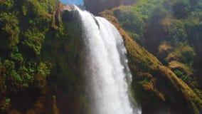 4K video delle cascate di Ouzoud, grande atlante nel Marocco Questo bello fondo della natura è situato in Africa ? a video d archivio