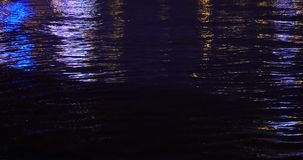 4k video,Night Ocean waves. Gh2_08399_4k stock footage