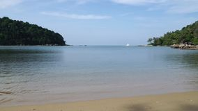 4k video of 2 small island in tropical andaman sea stock footage