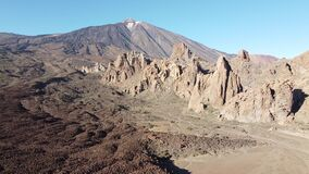 Teide national park on Tenerife. 4K video of Teide National Park on Canary Island Tenerife. It is the most popular destination for tourists