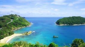4K videoclip, il punto di vista di vista sul mare pi? bello di estate a Phuket, Tailandia stock footage