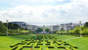 4K view of Edward vii park in Lisbon, Portugal - UHD. 4K view of Edward vii park in Lisbon, Portugal  UHD stock footage
