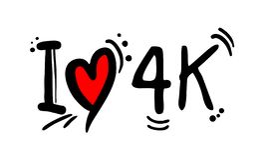4K visual resolution love message. Creative design of 4K visual resolution love message stock illustration