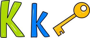 K is voor sleutel royalty-vrije illustratie