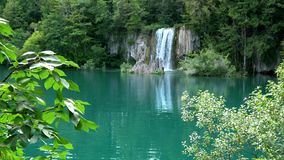 4K. Waterfall in Plitvice Lakes National Park, a beautiful place, Croatia stock video