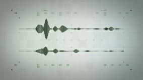 4K Waveform stereo Audio zieleń Lite ilustracji