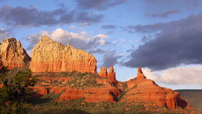 4K wieczór słońce w Sedona, Arizona zoom Out zdjęcie wideo