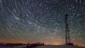 8K wierza w nocy zdjęcie wideo