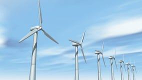 4k Windmill Turbines Clean,Green Wind Energy,new power,timelapse cloud. stock footage