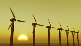 4k Windmill Turbines Clean At Sunrise timelapse,Green Wind Energy,new power. stock video