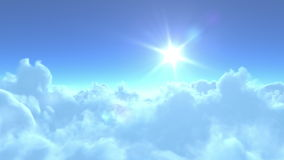 4K wolno lot nad chmurami ilustracji